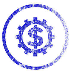 financial industry grunge textured icon vector image