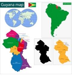 Guyana map vector