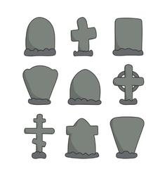 hand drawn headstones vector image vector image