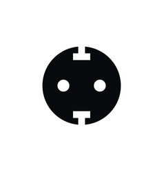 Isolated unplugged icon socket element can vector
