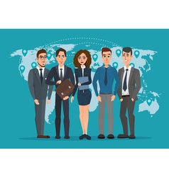 Leader and a team Group of men and women vector image vector image