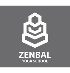 Meditation and yoga logo vector