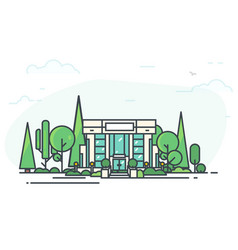 modern bank and park vector image vector image