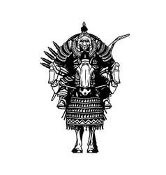 Mongolian horseman vector