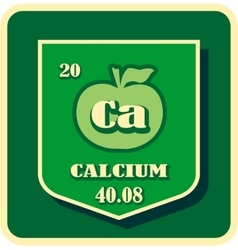 Nutrition facts apple calcium vector