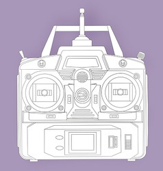 radio remote control unit vector image