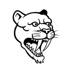 Sabertooth Line Art vector image