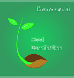 Seeds are germinating environmental symbol vector