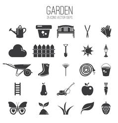 Set icon of garden vector