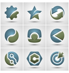 Set of different icons vector image vector image
