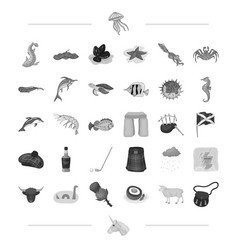 Species sea animal and other web icon in vector
