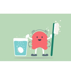 Teeth retainer cleaning vector