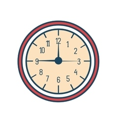 time clock watch isolated icon vector image vector image