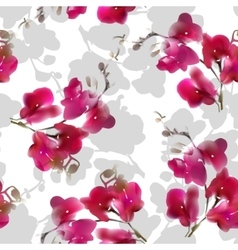 Watercolor imitation tropical orchid flower vector image