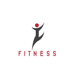 Abstract sport and fitness person design template vector