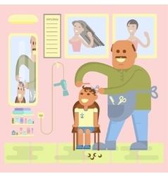 Professional bald-headed hairdresser vector image