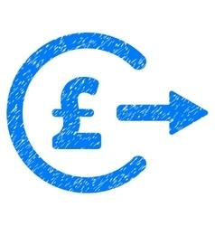 Pound cash out grainy texture icon vector