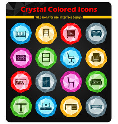 Furniture simply icons vector