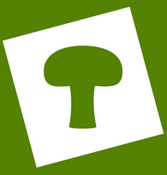 Mushroom simple sign  white icon obtained vector