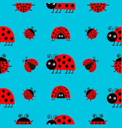 Ladybug ladybird icon set baby collection funny vector
