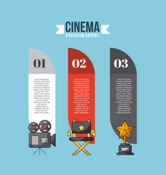 Inphografic cinema and movies vector