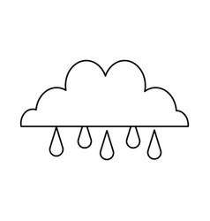 Cloud drop rain climate weather water vector