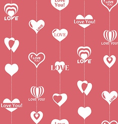 Heart pattern to valentines day seamless texture vector