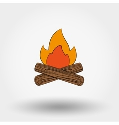 Bonfire icon vector