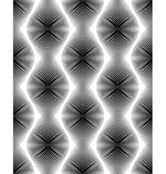 Continuous pattern with black graphic lines vector