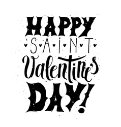 Happy valentine day typographic poster vector