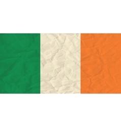 Ireland paper flag vector