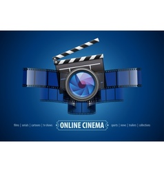 Online movie theater cinema vector