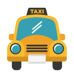 Taxi service isolated icon design vector