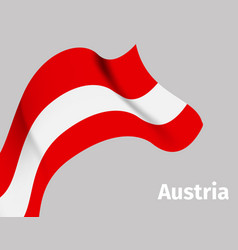 background with austria wavy flag vector image