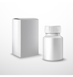 Blank medicine bottle vector image