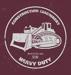 Bulldozer t-shirt design vector