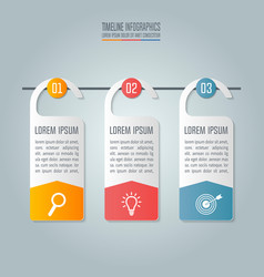 Business concept with 3 options steps or vector