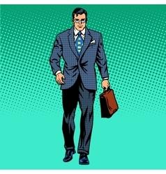 businessman goes forward vector image