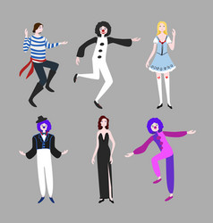 carnival people flat set vector image vector image