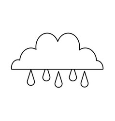 cloud drop rain climate weather water vector image