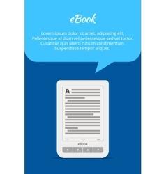 Ebook or tablet concept quote bubble a portable vector