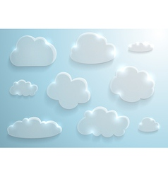 Glass clouds collection vector image