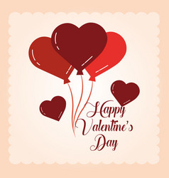 happy valentines day balloons shaped heart vector image