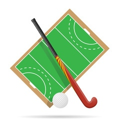 hockey on the field vector image