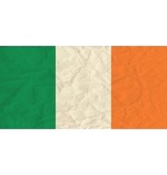 Ireland paper flag vector image vector image