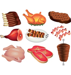 meat set vector image