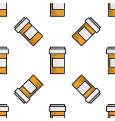 Medical flat icon pattern vector image vector image