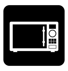 Microwave symbol button vector