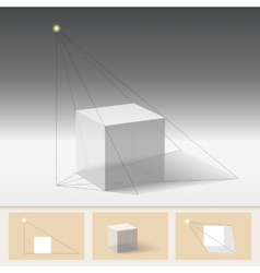 Principle of constructing the shadow vector