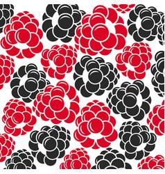 raspberries and blackberries vector image